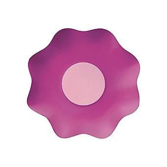 Double Pink 16cm Shaped Paper Party Bowls