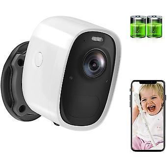 FengChun berwachungskamera mit Akku 6700mAh, 1080P kabellose Outdoor WLAN IP Kamera mit