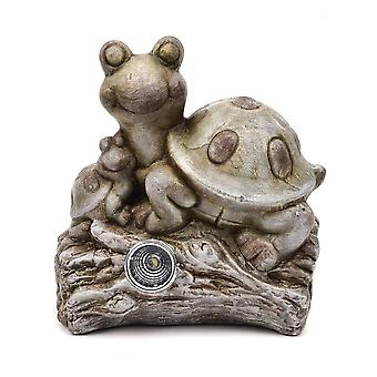 Widdop & Co. Terrakotta kilpikonna haarapuutarhan koristeessa aurinkovalolla