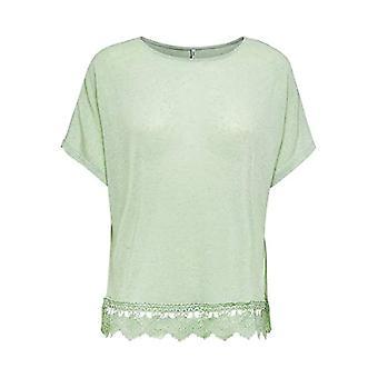 Only Onlziga S/s Top Jrs T-Shirt, Aqua Foam, L Donna