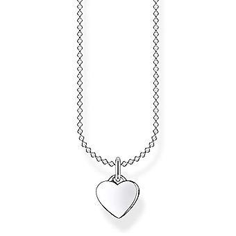 Thomas Sabo Collana da donna in argento Sterling 925, con ciondolo a forma di cuore, lunghezza 36-38 cm
