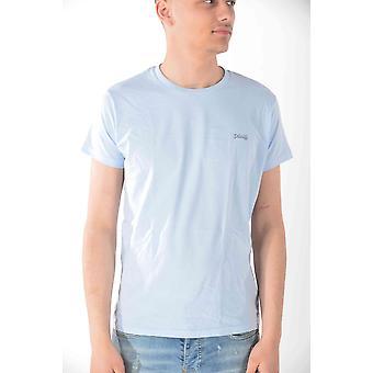 T-shirt short sleeves Sky Blue Schott men