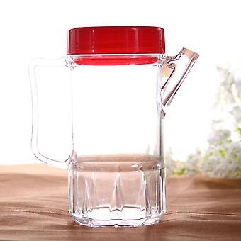 Botella de vidrio con vinagre de aceite, botella de acrílico de condimento