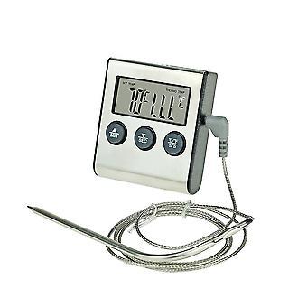 الرقمية ميزان الحرارة الفورية قراءة، طويل التحقيق مطبخ الحليب الغذاء في الهواء الطلق -50-300 درجة Cbbq شواء رصد