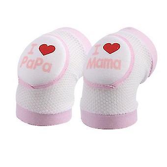 Pink sommer baby knæ ærme sommer tynde lille barn anti falde x4954