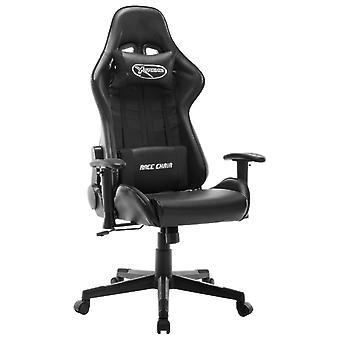 vidaXL Gaming Chair Leatherette bianca e nera