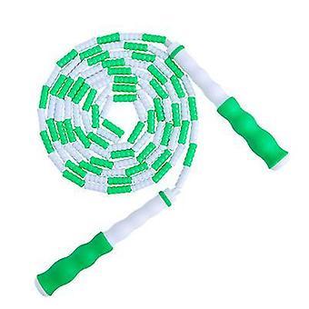 ירוק רך חרוזים דילוג חבל עם קטע מתכוונן דילוג על חבל x7700