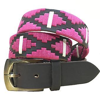 Carlos Díaz cinturón de cuero marrón awo77285