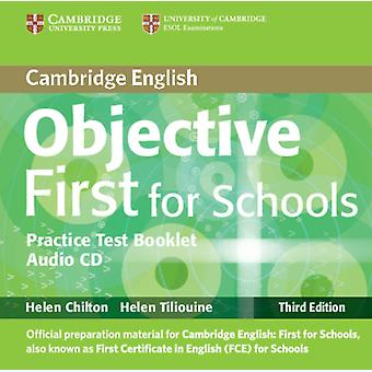 Objective First For Schools Pack without Answers Students Book with CDROM Practice Test Booklet with Audio CD