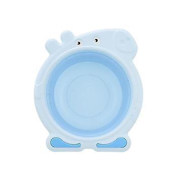Baby Folding Washbasin Collapsible Wash Basin Folding Dishpan Dish Bowl Washing Tub(BLUE)