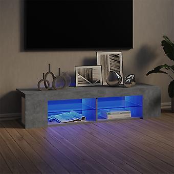 "vidaXL ארון טלוויזיה עם נורות LED בטון אפור 135x39x30 ס""מ"
