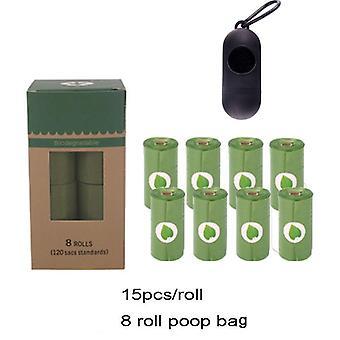 ロールペット犬のうんち袋生分解性堆肥化可能なエコフレンドリーな犬の廃棄物バッグディスペンサー屋外分解性犬排泄袋