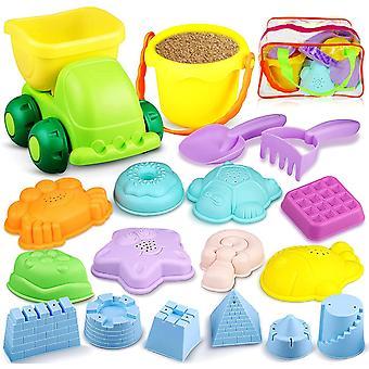 Sandspielzeug Set, Strandspielzeug Schaufel und Eimer Sand Fahrzeuge für Kinder Mädchen Junge,