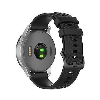 Cinturino da orologio sostitutivo per Garmintaille 18 mm nero universale