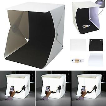 Portable Photo Studio Lighting Cube Box Photography Backdrop LED Light Room Tent