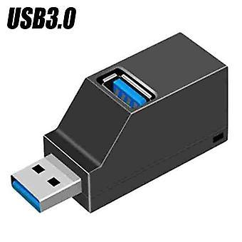(שחור USB 3.0) 3 יציאות USB 2.0 3.0 HUB מפצל מתאם מהירות גבוהה Datenhub für מחשב נייד