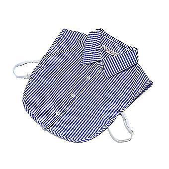 Detachable Blouse 3 Buttons Fake Collar Elegant Girl False Collar Blue