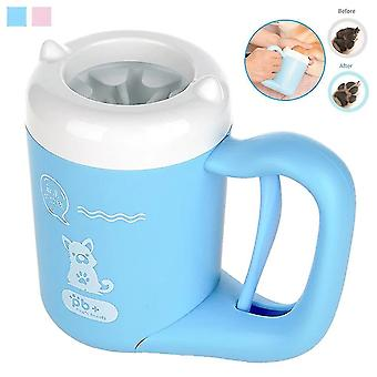 Outdoor draagbare huisdier hond poot cleaner cup 360 ° zachte siliconen voet wasmachine schone hond poten een klik
