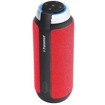 Alto-falante Bluetooth com som surround de 360 graus, 15 horas de reprodução (Vermelho)
