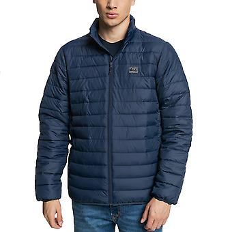 Quiksilver Mens Scaly Casual Zip Up Warm Winter Puffer Jacket Coat - Navy
