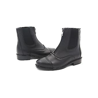 Horse Riding Equestrian Boots Full Leather High Quality Zipper Shoes