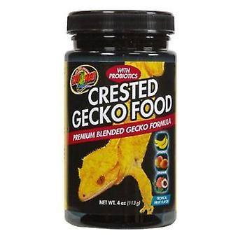 Zoo Med Crested Gecko Food - Sabor de Fruta Tropical - 4 oz (113 g)