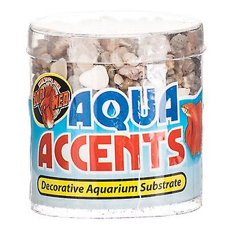 Zoo Med Aquatic Aqua Accents Aquarium Substrate - Light River Pebbles - .5 lbs