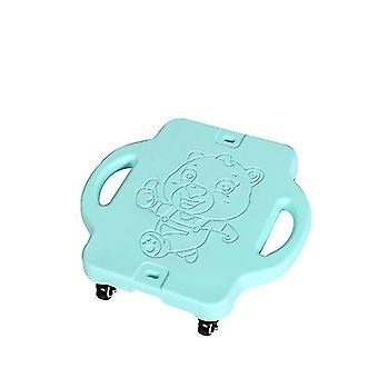 Kinder Kunststoff Vierrad Outdoor Sport Roller (Mint Green)