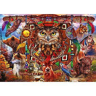 Bluebird Animal Totem Jigsaw Puzzle (1000 Pieces)