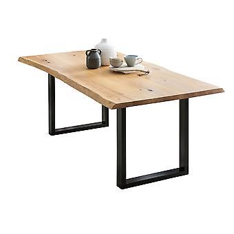 Tomasso's Pisa Dining Table - Modern - Brown - Metal - 140 cm x 80 cm x 75 cm