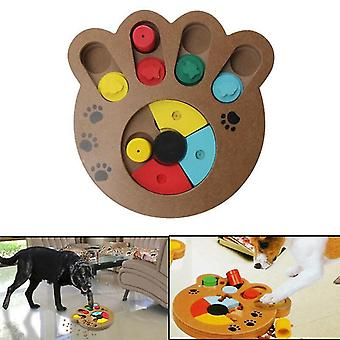 Dog toys pet dog wooden game iq training toy interactive food dispensing puzzle