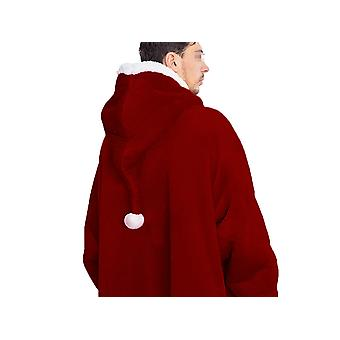 Homemiyn عيد الميلاد سترة بطانية الكبار فضفاضة بيجامة لينة دافئة