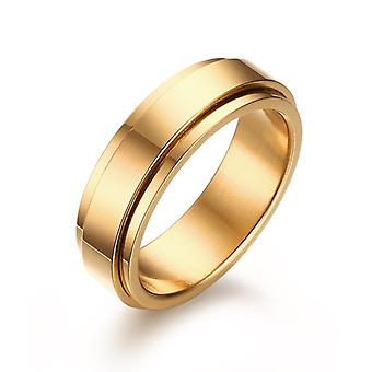 Cool Simple Band Stainless Steel Men Bague de mariage
