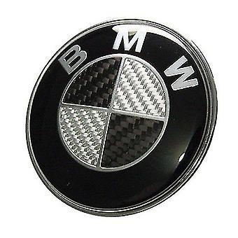 Bmw Carbon Fibre Black Rear Boot Lid Badge Emblem 74mm