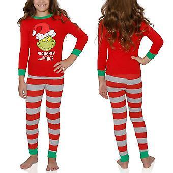Kerstmis familie matching volwassen kinderen de grinch pyjama set nachtkleding