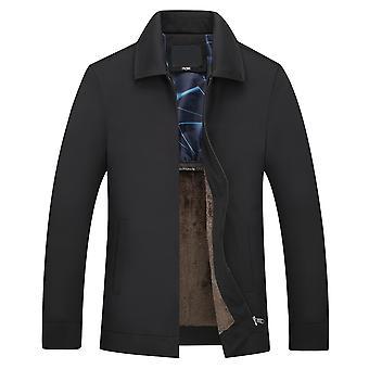 Mile Miesten Lapel Solid Color Business Coat Casual Takki