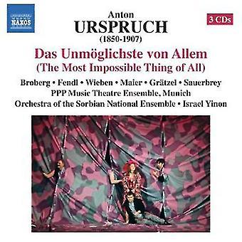 Urspruch - Anton Urspruch: Importazione Das Unm Glichste Von Allem [CD] Stati Uniti d'America