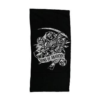 Sønner av anarki svart & hvit SOA Reaper stranden håndkle 28 x 58 tommer