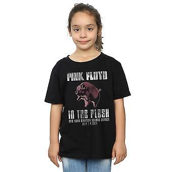 Filles de Pink Floyd dans le T-Shirt de la chair