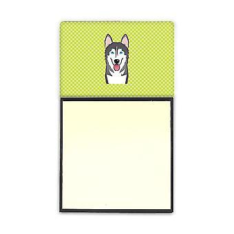 لوح شطرنج الجير الأخضر ألاسكا Malamute ريفييلابل Sticky Note حامل أو بسطي