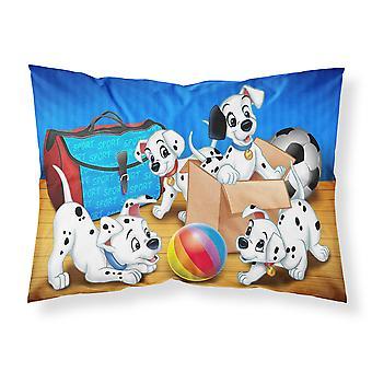 Dalmatians playing ball Fabric Standard Pillowcase