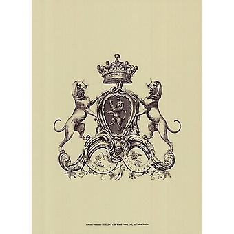 Heraldry III Poster Print by Vision studio (10 x 13)