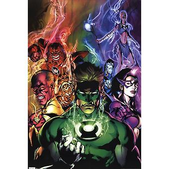 Green Lantern - svartaste natt affisch Skriv ut