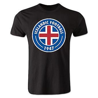 Island Core Logo t-skjorte (svart) - barn