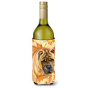 Shar Pei Fall Wine Bottle Beverge Insulator Hugger