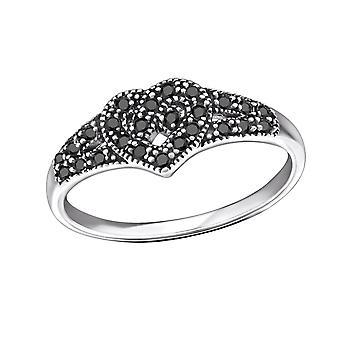 Corazón celta - Jewelled de plata de ley 925 anillos - W31587X