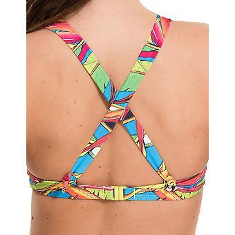 LingaDore 2916HB-154 Women's Carnaval Multicolour Motif Swimwear Beachwear Bikini Top