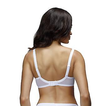 Paris nessa B2 feminino cor sólida branca bordado acolchoado Underwired Push-Up Bra
