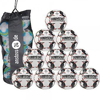 10 x DERBYSTAR Youth Ball-BUNDESLIGA MAGIC S-LIGHT 18/19 w komplecie z torbą na piłkę