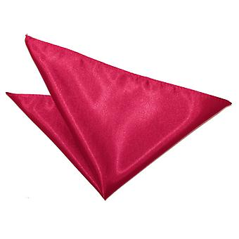 Crimson Red Plain Satin Pocket Square